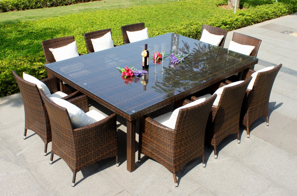round wicker patio dining set - icamblog