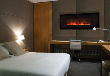 Fireplace-electric-condo-suite