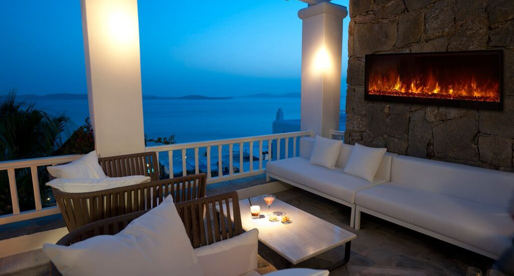 Electric Fireplace Commercial Design Landscape Full View 95 Quot