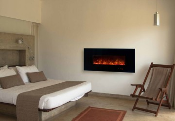 Fireplace-electric-bedroom
